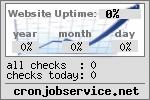 Serverchecks bei CRONJOBSERVICE.NET - Ihr kostenloser Cronjob- und Serverüberwachungsdienst mit Uptime-Statistik für Ihre Homepage